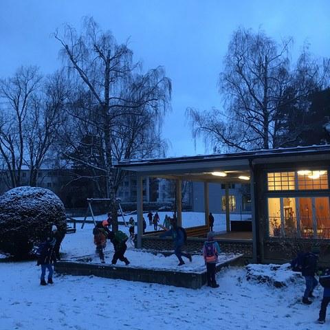 endlich Schnee. Vergrösserte Ansicht